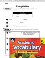 Academic Vocabulary Level 5 - Precipitation