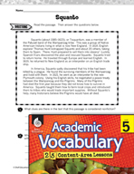 Academic Vocabulary Level 5 - Reading Biographies