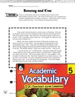 Academic Vocabulary Level 5 - Reading Folktales