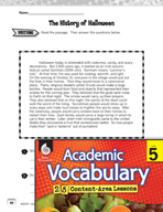 Academic Vocabulary Level 5 - Reading Informational Texts