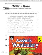 Academic Vocabulary Level 5 - Reading Informational Texts
