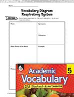 Academic Vocabulary Level 5 - Respiratory System