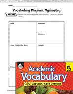 Academic Vocabulary Level 5 - Symmetry