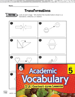 Academic Vocabulary Level 5 - Transformations