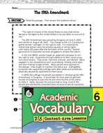 Academic Vocabulary Level 6 - 19th Amendment