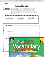 Academic Vocabulary Level 6 - Complex Characters