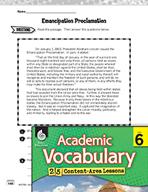 Academic Vocabulary Level 6 - Emancipation Proclamation