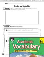 Academic Vocabulary Level 6 - Erosion and Deposition
