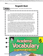 Academic Vocabulary Level 6 - Fictional Genres