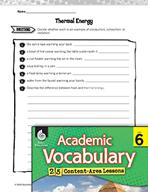 Academic Vocabulary Level 6 - Heat