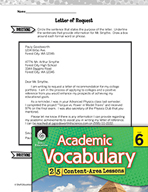 Academic Vocabulary Level 6 -  Letters of Request