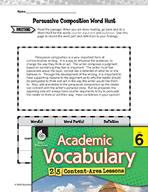 Academic Vocabulary Level 6 - Persuasive Compositions