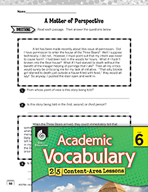 Academic Vocabulary Level 6 - Point of View