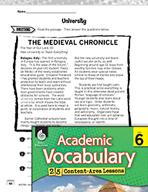 Academic Vocabulary Level 6 - Reading Informational Texts