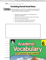 Academic Vocabulary Level 6 - Sound Waves