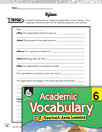 Academic Vocabulary Level 6 - Technical Writing