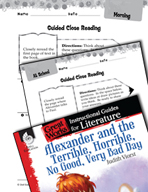Alexander and the Terrible, Horrible - Close Reading and T