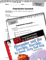Alexander and the Terrible, Horrible - Comprehension Assessment (Great Works Series)