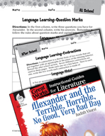 Alexander and the Terrible, Horrible - Language Learning Activities (Great Works Series)