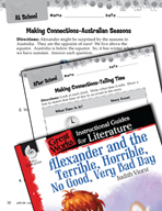 Alexander and the Terrible, Horrible - Making Cross-Curricular Connections (Great Works Series)