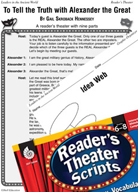 Alexander the Great Reader's Theater Script and Lesson