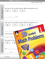 Algebraic Thinking Leveled Problem: Writing Equations with Which Numbers?
