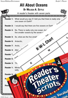 All About Oceans Reader's Theater Script and Lesson