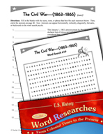 American History Word Researches: Civil War 1863–1865