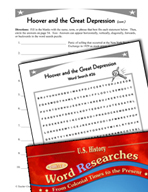 American History Word Researches: Hoover and the Great Depression