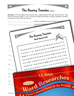 American History Word Researches: The Roaring Twenties
