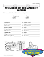 Ancient Civilizations Critical Thinking Activities and Brain Teasers