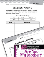 Are You My Mother? Vocabulary Activities (Great Works Series)