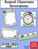 August Classroom Decorations by Karen's Kids