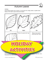 Autumn Leaves and Other Themed Activities