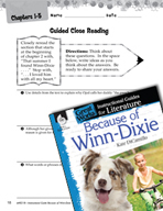Because of Winn-Dixie Close Reading and Text-Dependent Que