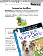Because of Winn-Dixie Language Learning Activities (Great Works Series)