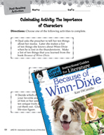Because of Winn-Dixie Post-Reading Activities (Great Works