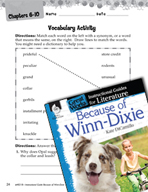 Because of Winn-Dixie Vocabulary Activities (Great Works Series)