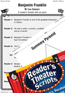 Benjamin Franklin Reader's Theater Script and Lesson