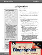 Biography Strategy Lesson - A Complete Person