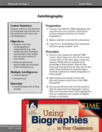 Biography Strategy Lesson - Autobiography