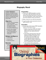 Biography Strategy Lesson - Biography Mural