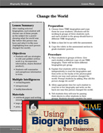 Biography Strategy Lesson - Change the World