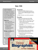 Biography Strategy Lesson - Make TIME