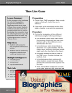 Biography Strategy Lesson - Time Line Game
