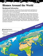 Biomes and Ecosystems Inquiry Card - Biomes Around the World