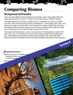 Biomes and Ecosystems Inquiry Card - Comparing Biomes