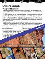 Biomes and Ecosystems Inquiry Card - Desert Energy