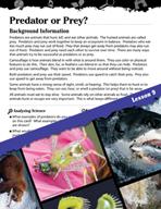 Biomes and Ecosystems Inquiry Card - Predator or Prey?