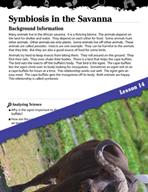 Biomes and Ecosystems Inquiry Card - Symbiosis in the Savanna